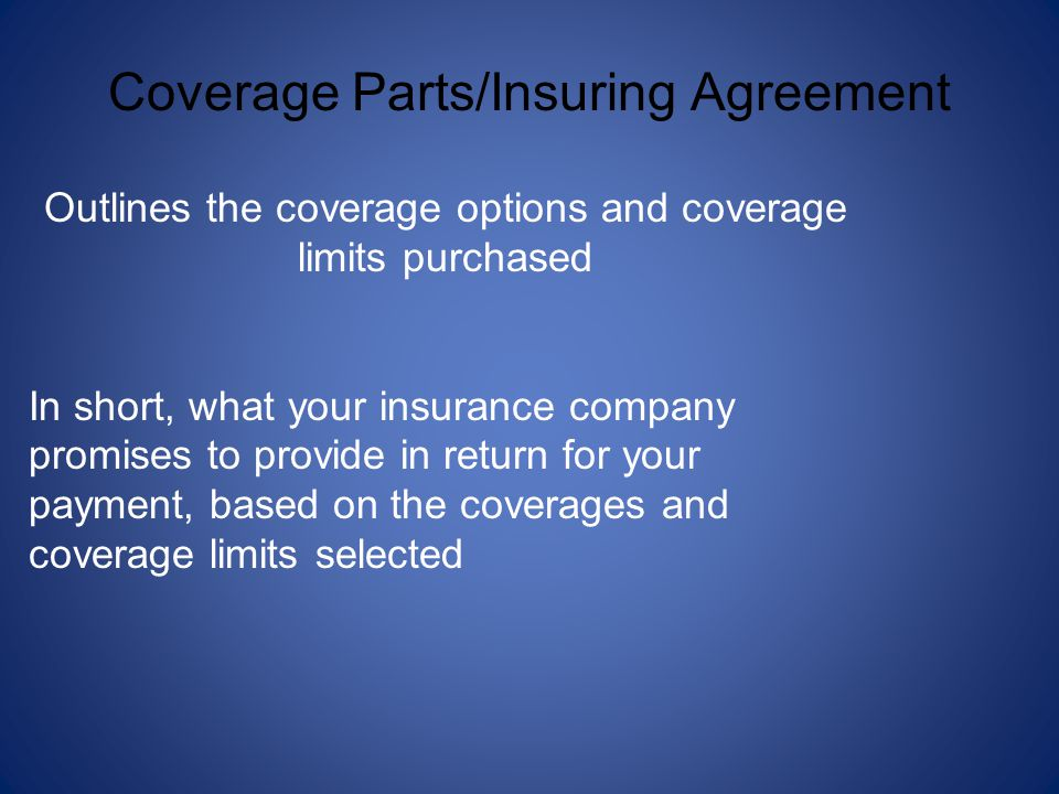 Coverage Parts/Insuring Agreement