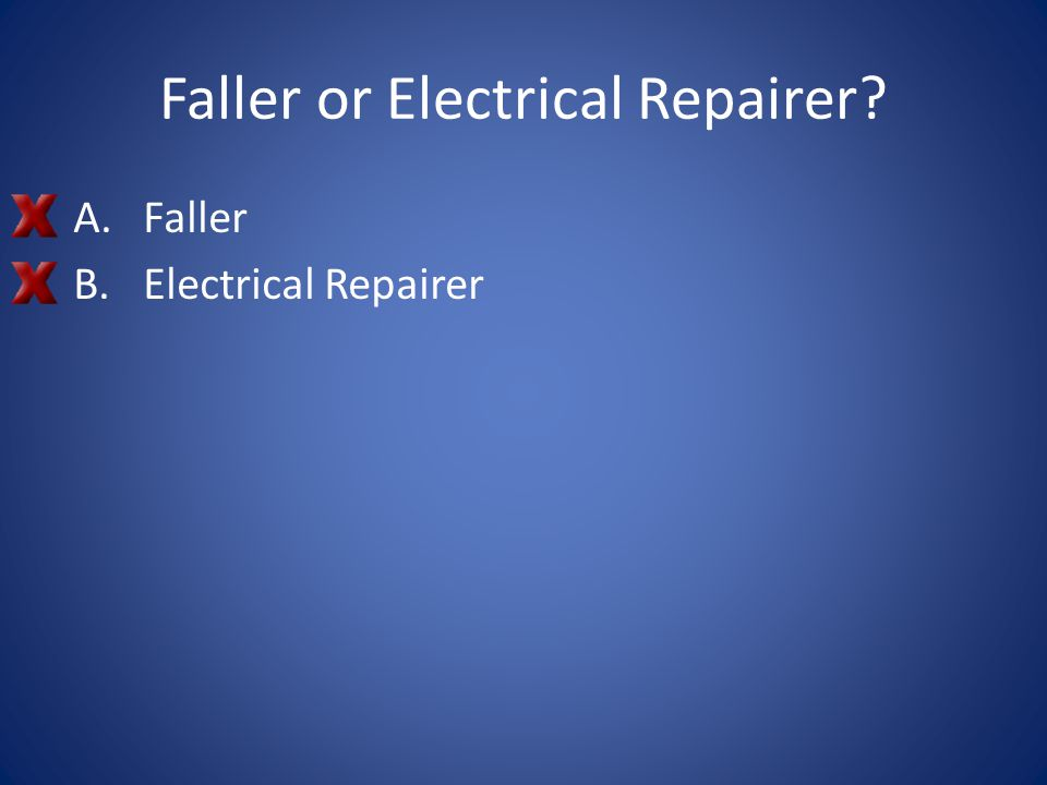 Faller or Electrical Repairer