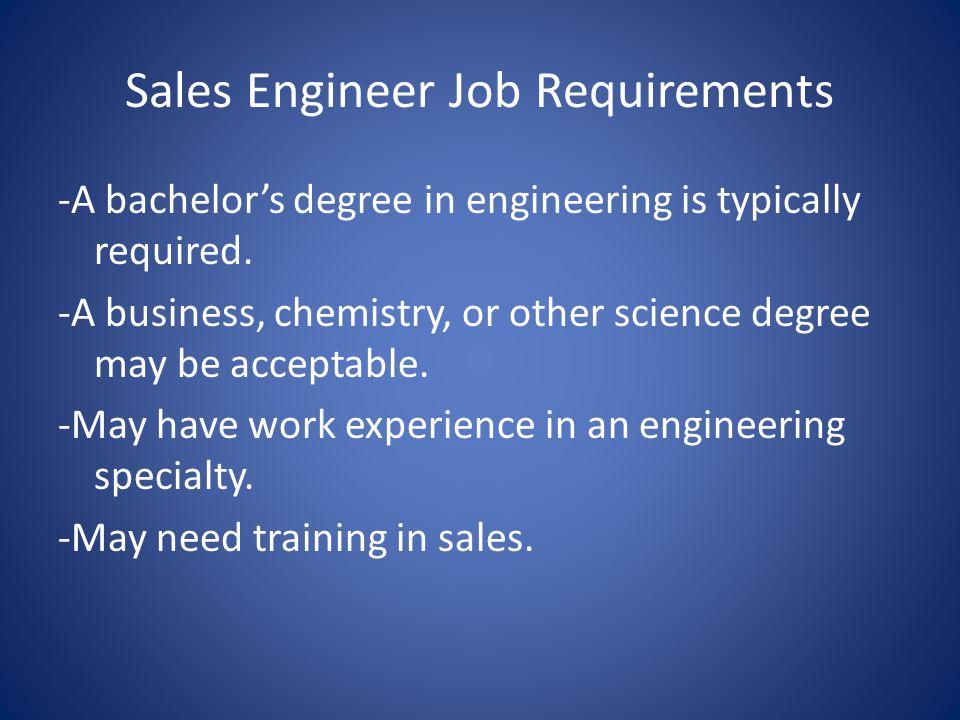 Sales Engineer Job Requirements