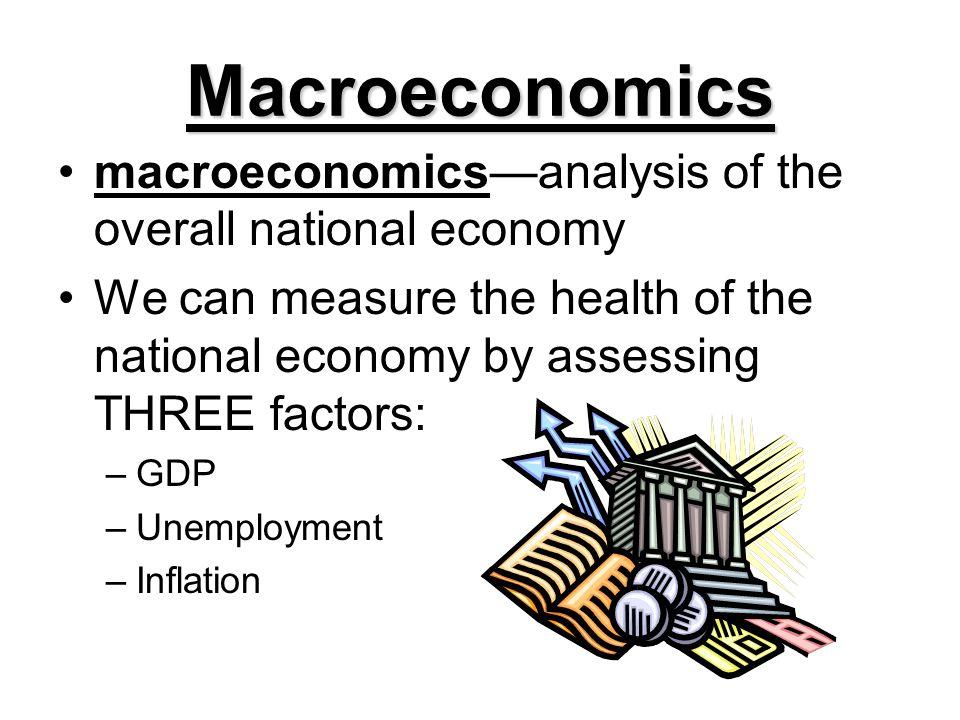 Macroeconomics macroeconomics—analysis of the overall national economy