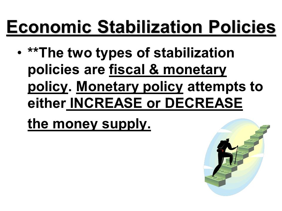 fiscal policy as an economic stabilization Stabilization stabilization is another important function of fiscal policy in that the purpose of budgeting is to provide stable economic growth.