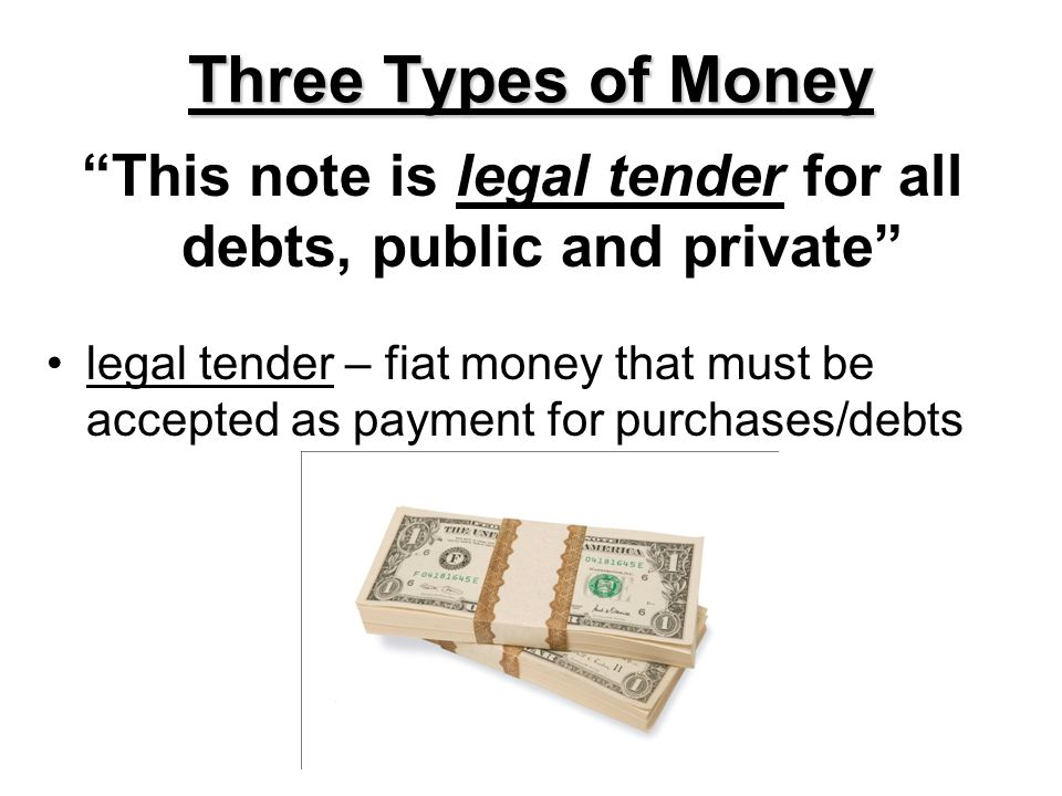 This note is legal tender for all debts, public and private