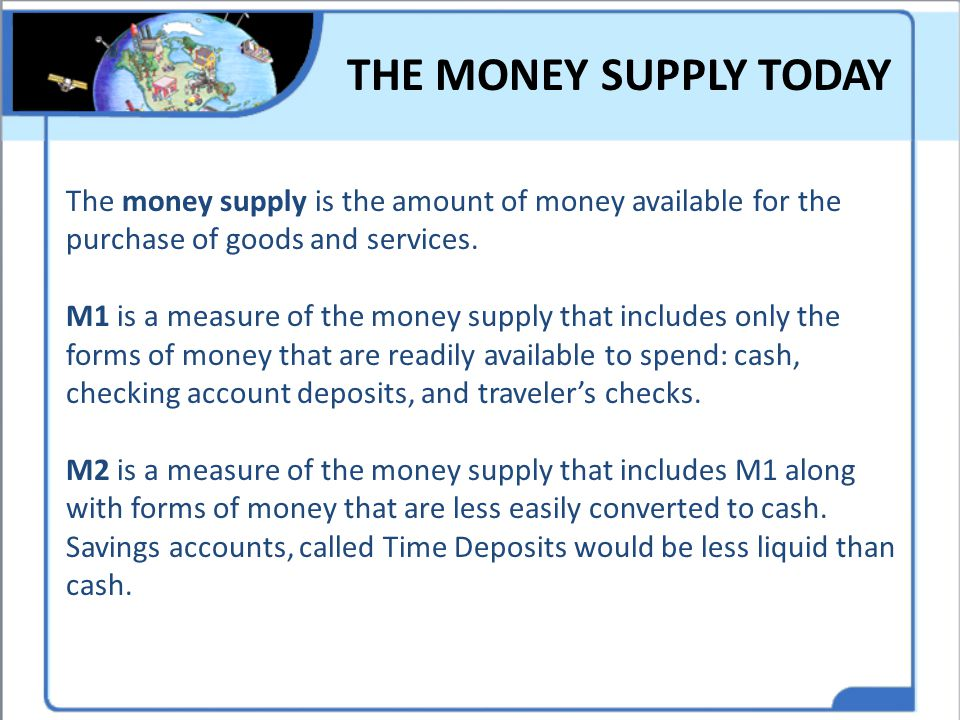 THE MONEY SUPPLY TODAY