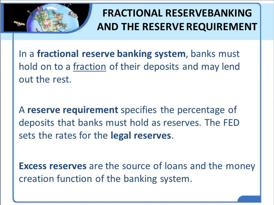 FRACTIONAL RESERVEBANKING AND THE RESERVE REQUIREMENT