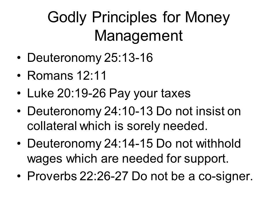 Godly Principles for Money Management