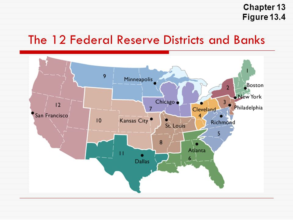 The 12 Federal Reserve Districts and Banks