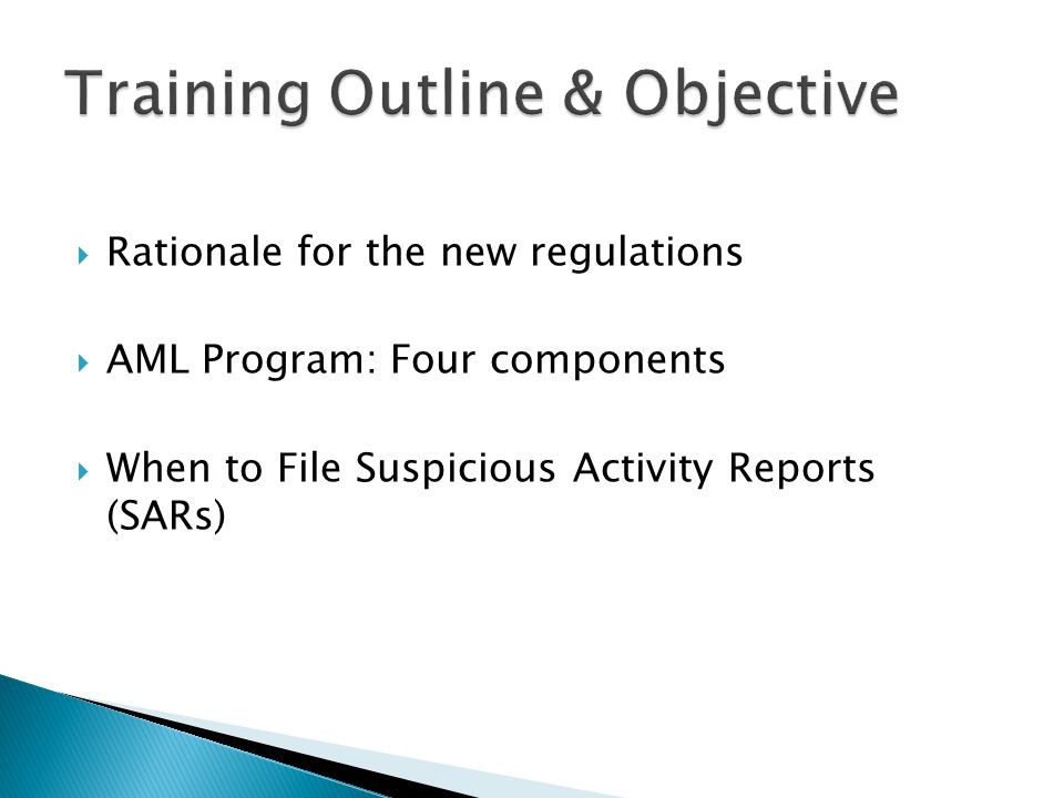 Training Outline & Objective