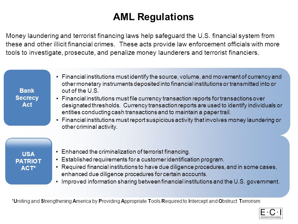 Money Laundering and Terrorist Financing Laws Red F AML Regulations