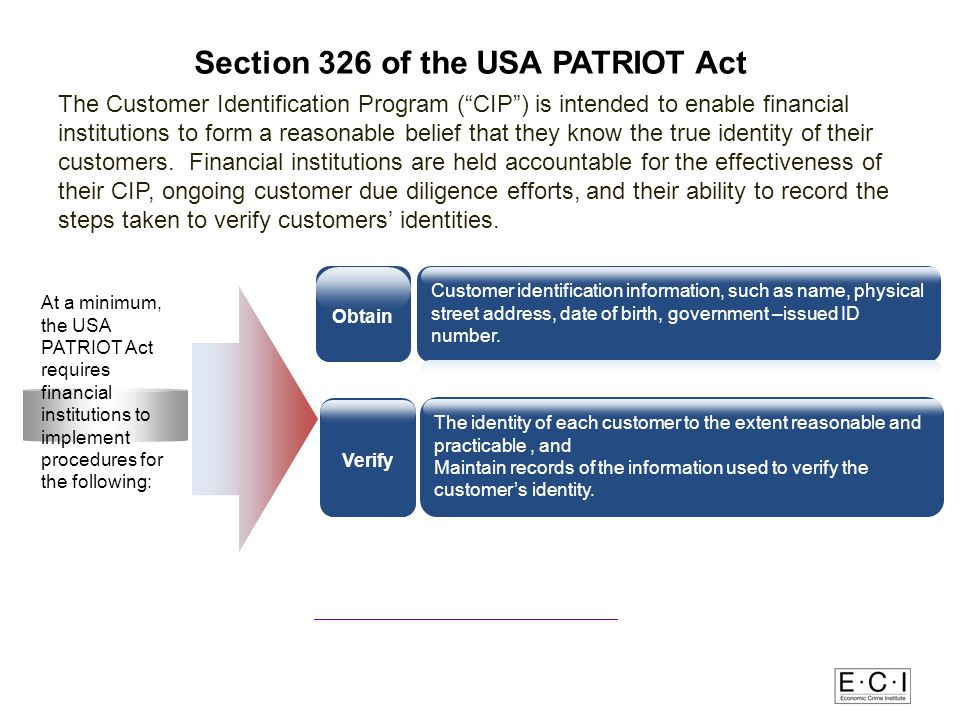 Section 326 of the USA PATRIOT Act