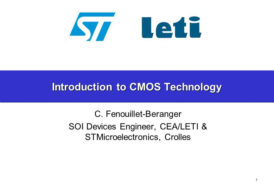 Introduction to CMOS Technology