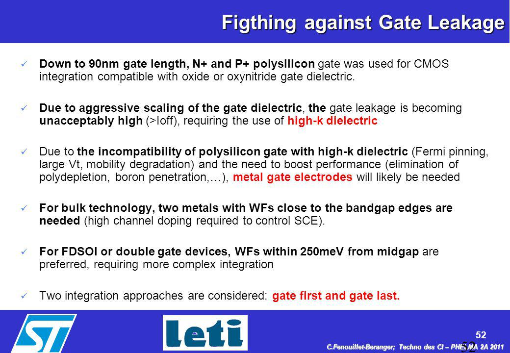 Context Figthing against Gate Leakage