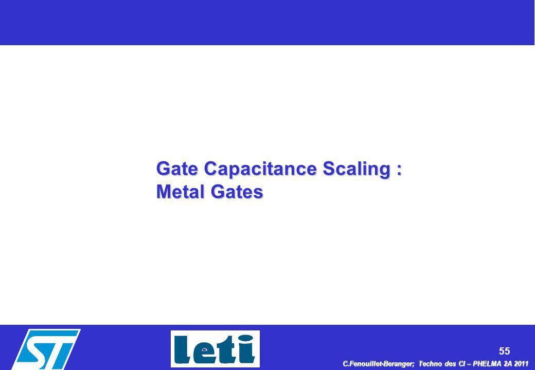 Gate Capacitance Scaling : Metal Gates