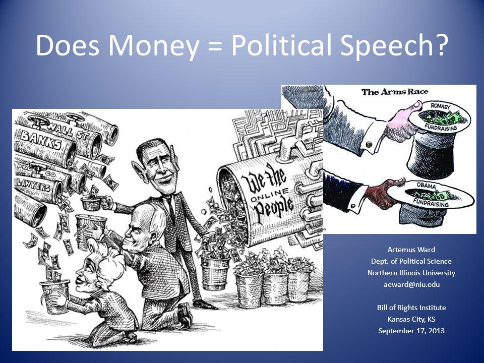Does Money = Political Speech