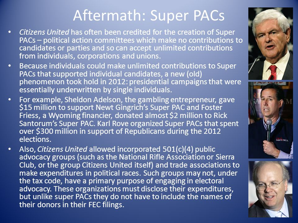 Aftermath: Super PACs
