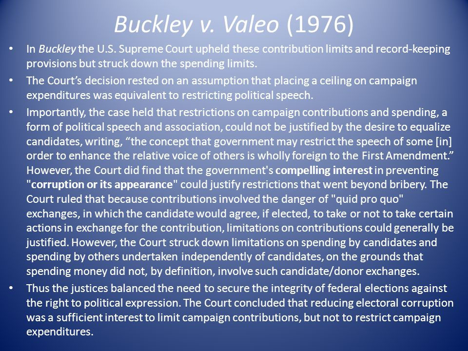 Buckley v. Valeo (1976)