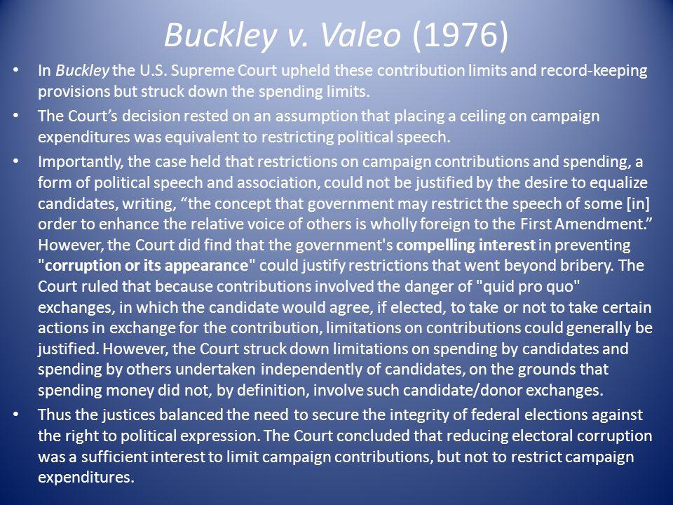Buckley v. Valeo (1976)