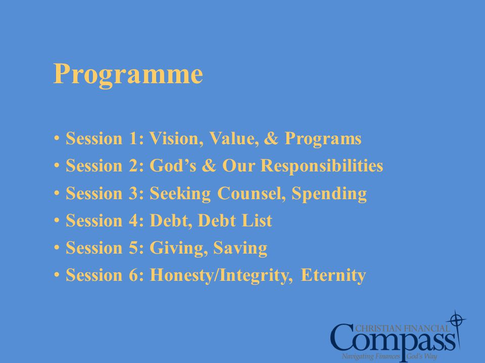 Programme Session 1: Vision, Value, & Programs