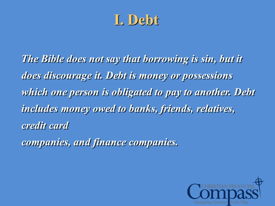 I. Debt