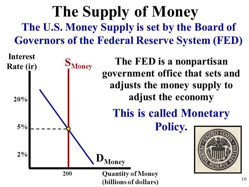 This is called Monetary Policy.