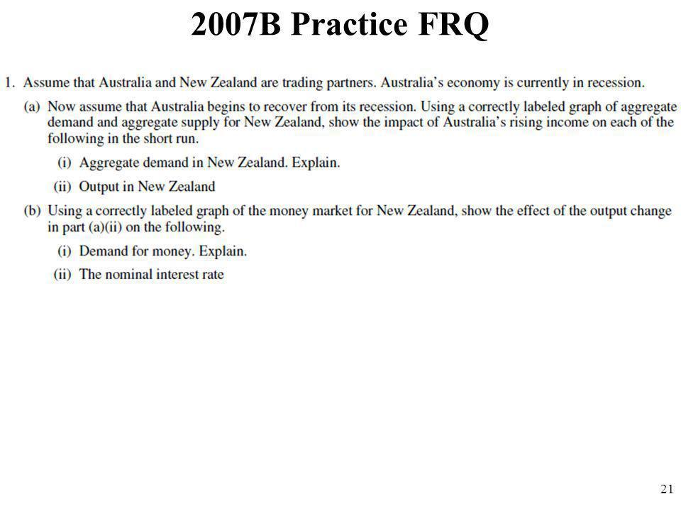 2007B Practice FRQ 21