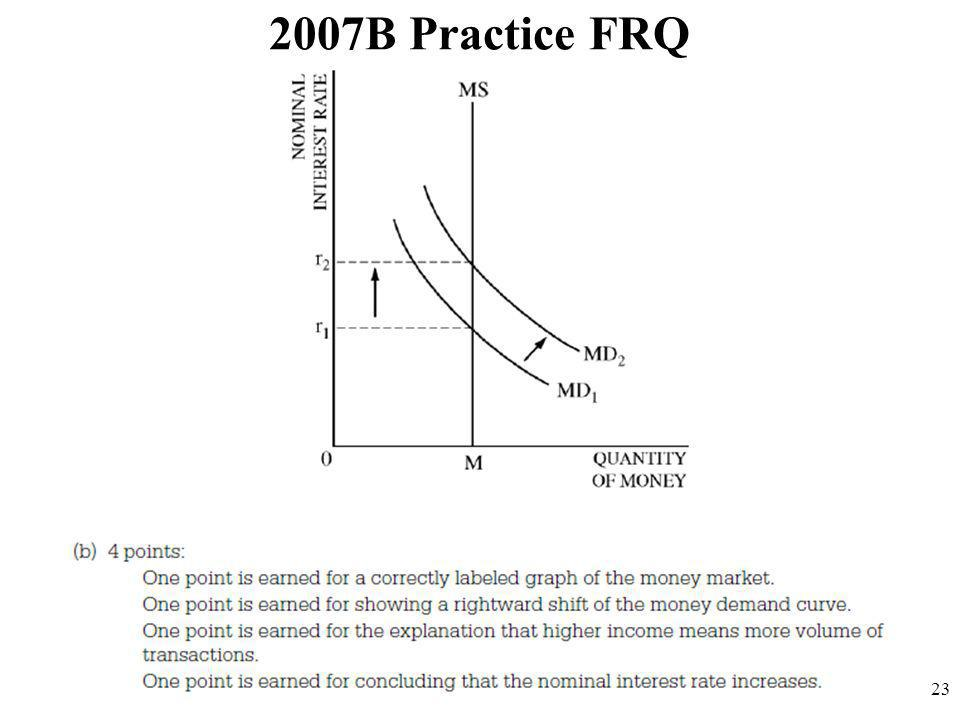 2007B Practice FRQ 23