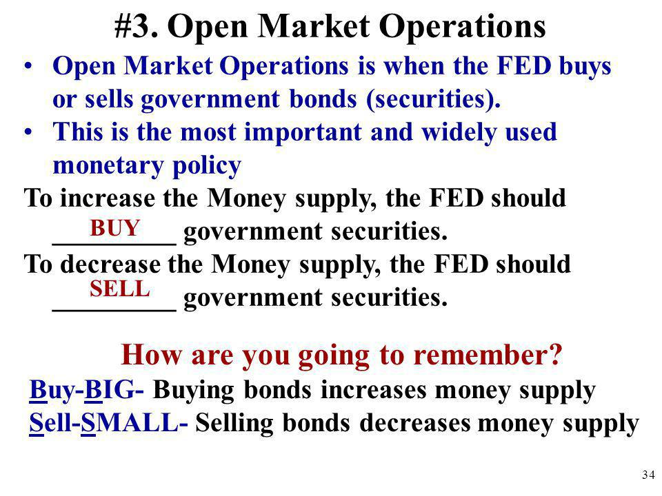 #3. Open Market Operations How are you going to remember