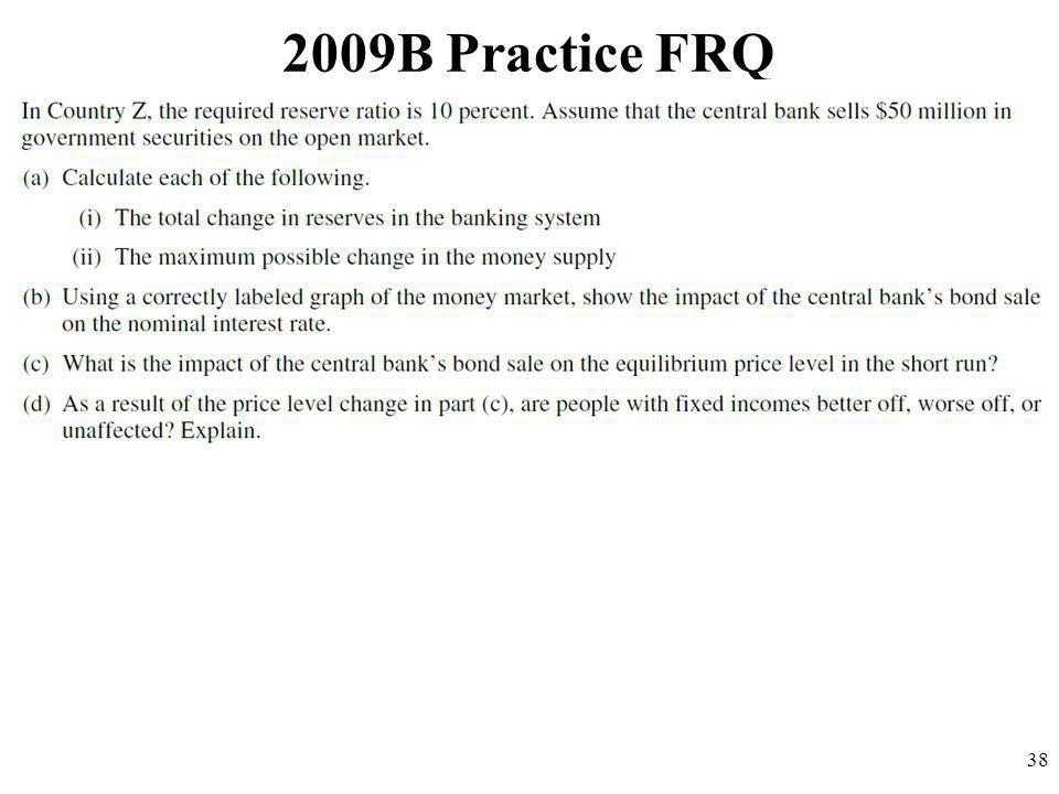 2009B Practice FRQ 38