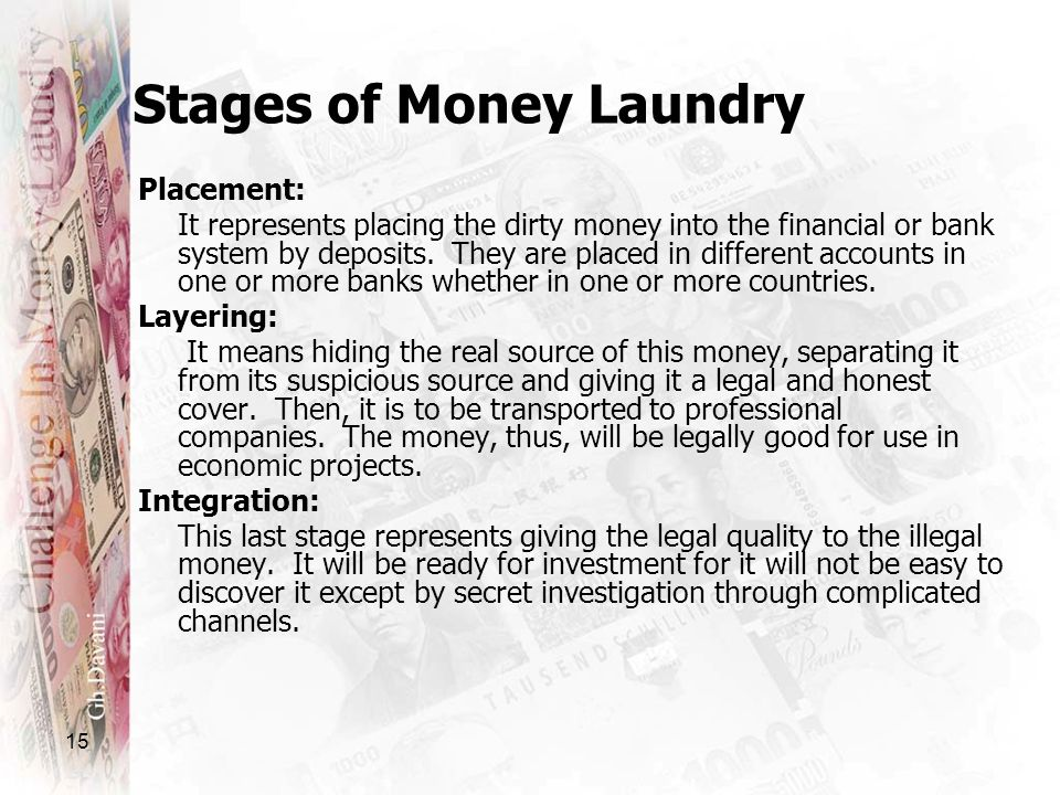 Stages of Money Laundry