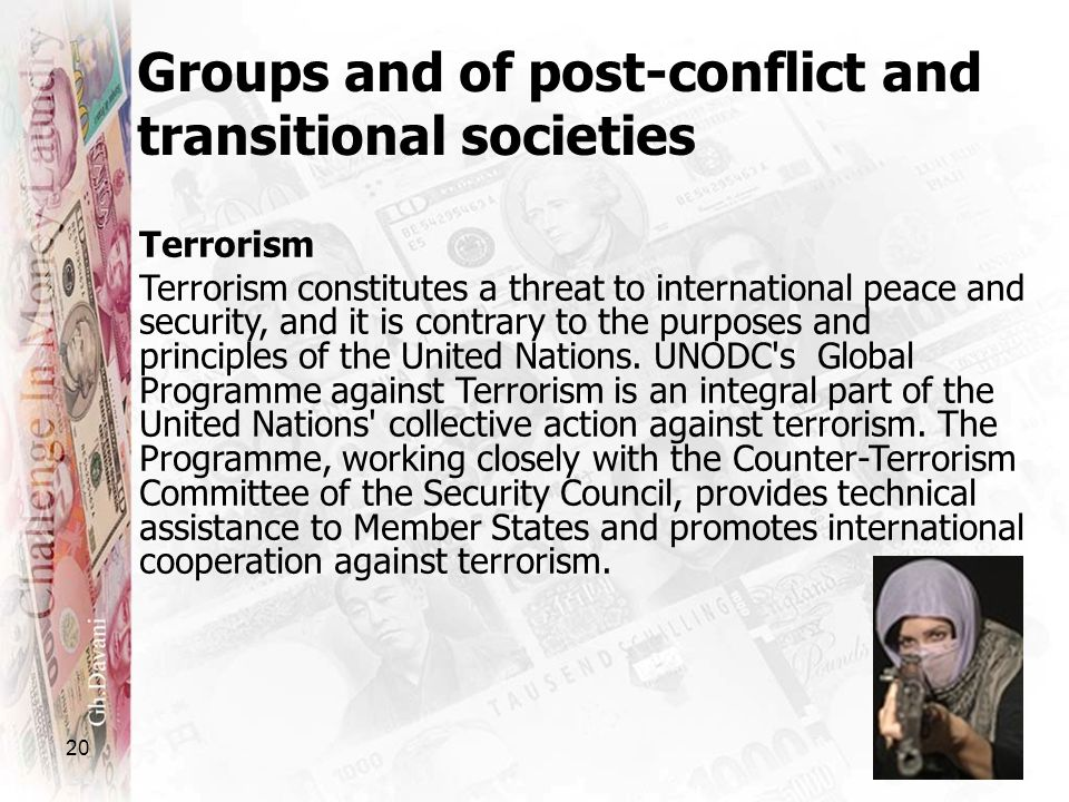 Groups and of post-conflict and transitional societies