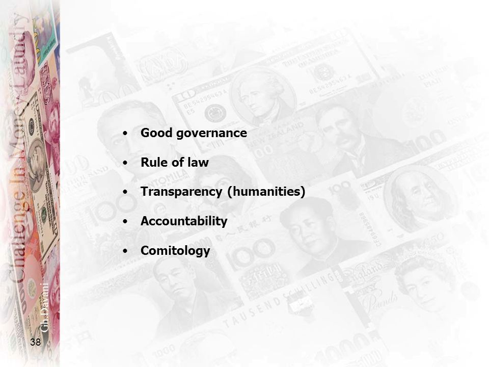Good governance Rule of law Transparency (humanities) Accountability Comitology