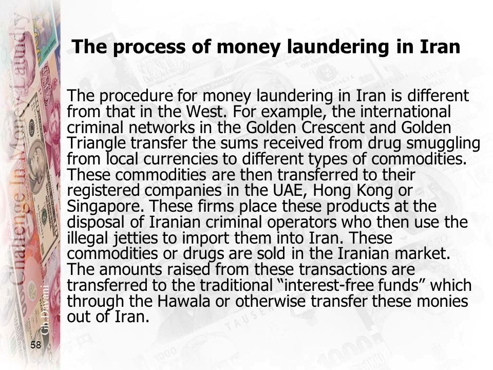 The process of money laundering in Iran