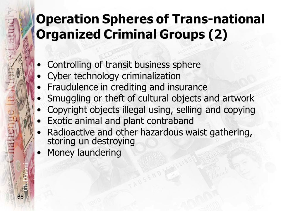 Operation Spheres of Trans-national Organized Criminal Groups (2)