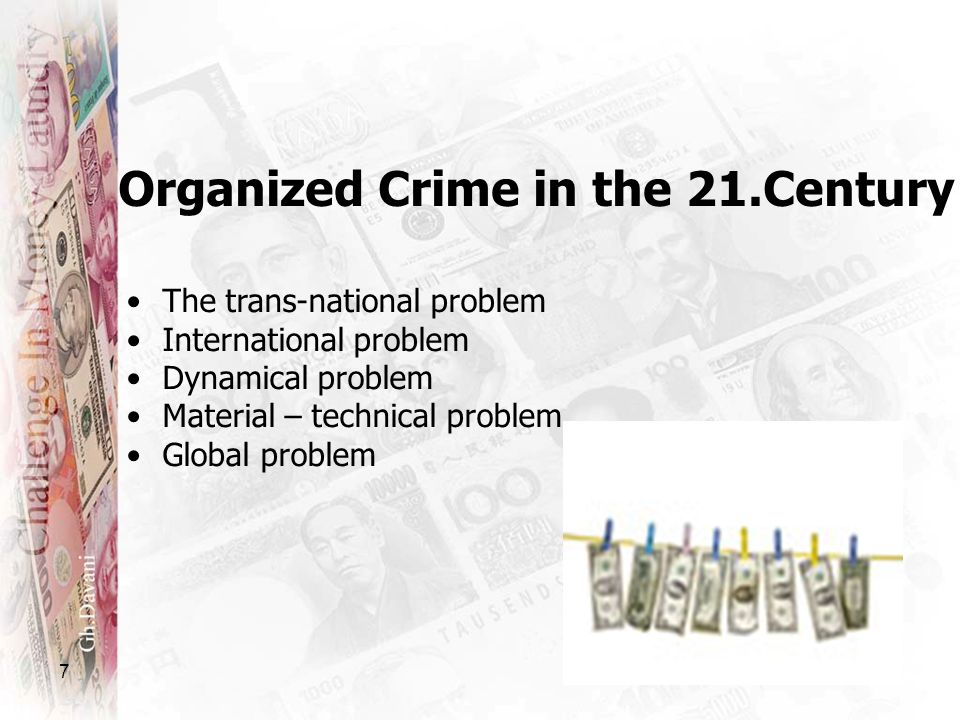 Organized Crime in the 21.Century