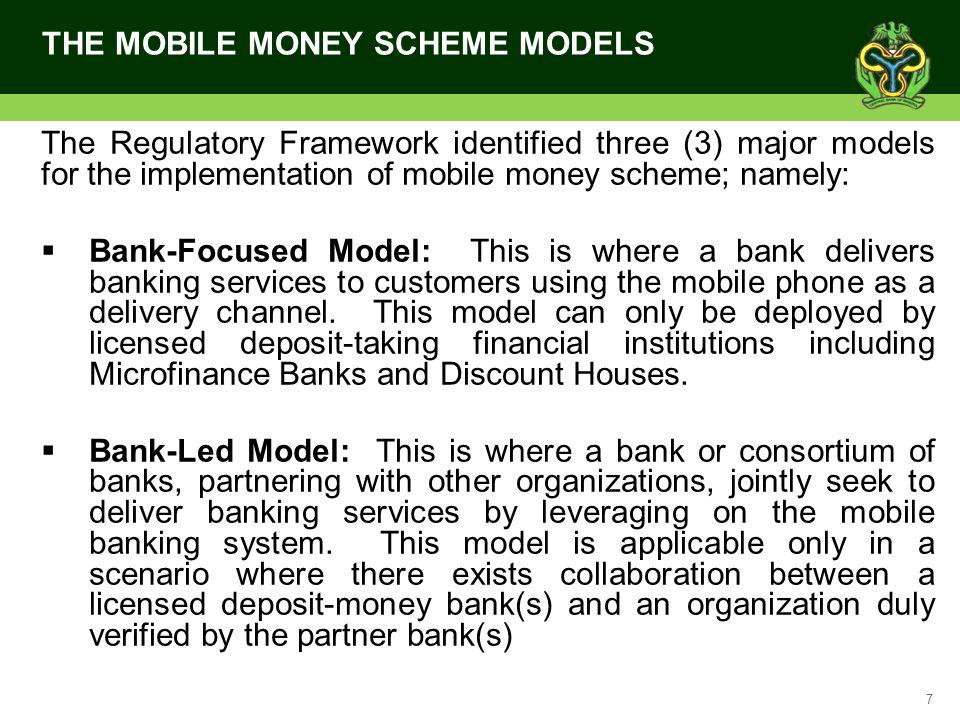 THE MOBILE MONEY SCHEME MODELS