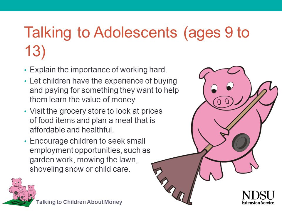 Talking to Adolescents (ages 9 to 13)