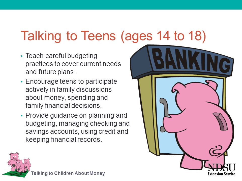 Talking to Teens (ages 14 to 18)