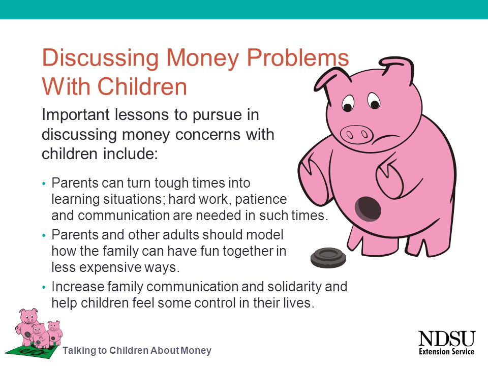 Discussing Money Problems With Children
