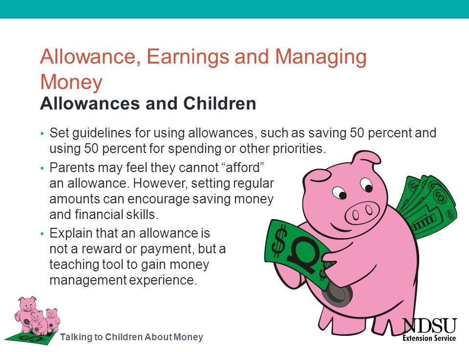 Allowance, Earnings and Managing Money