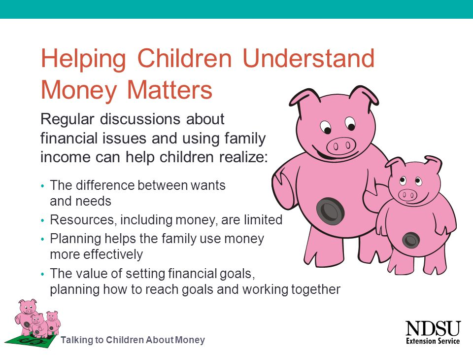 Helping Children Understand Money Matters