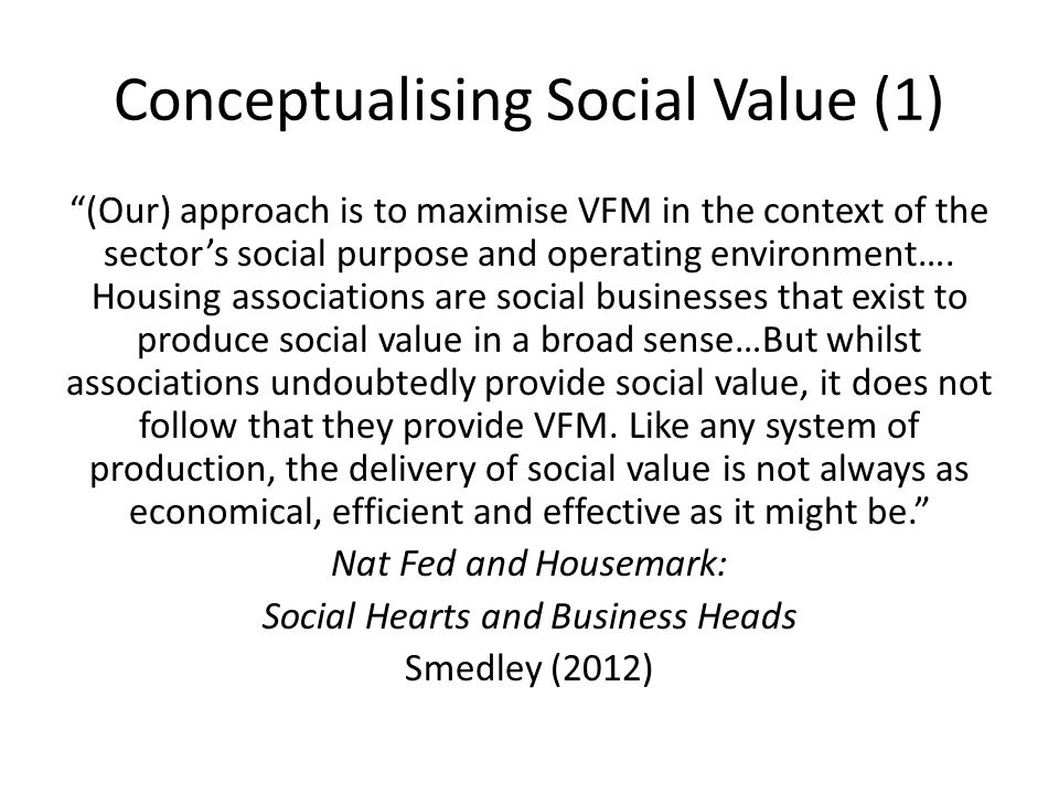 Conceptualising Social Value (1)