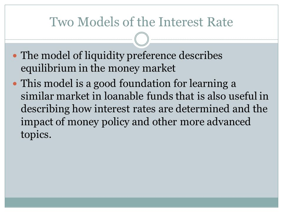 Two Models of the Interest Rate
