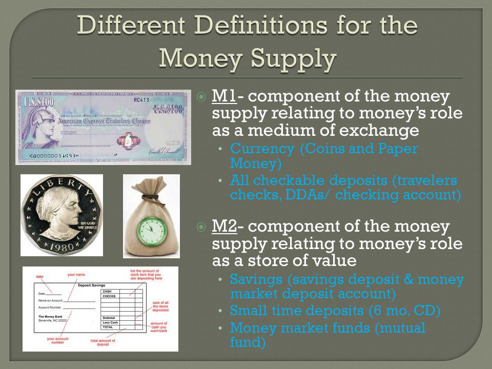 Different Definitions for the Money Supply