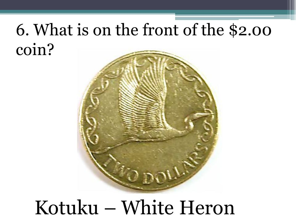 6. What is on the front of the $2.00 coin