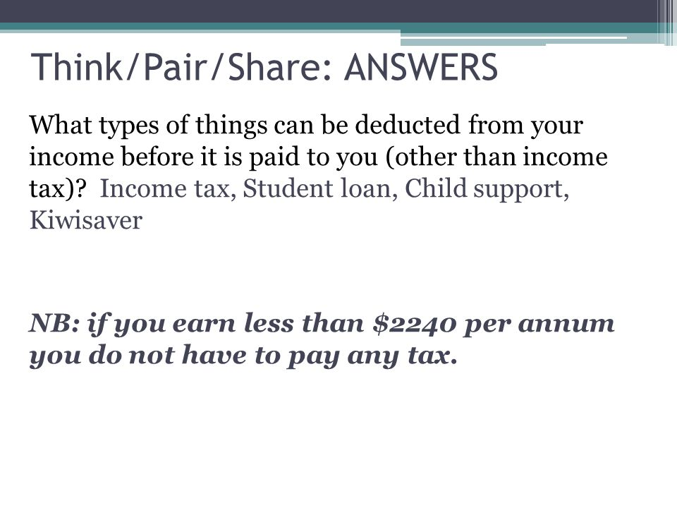 Think/Pair/Share: ANSWERS