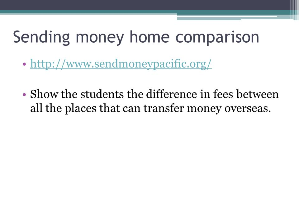 Sending money home comparison