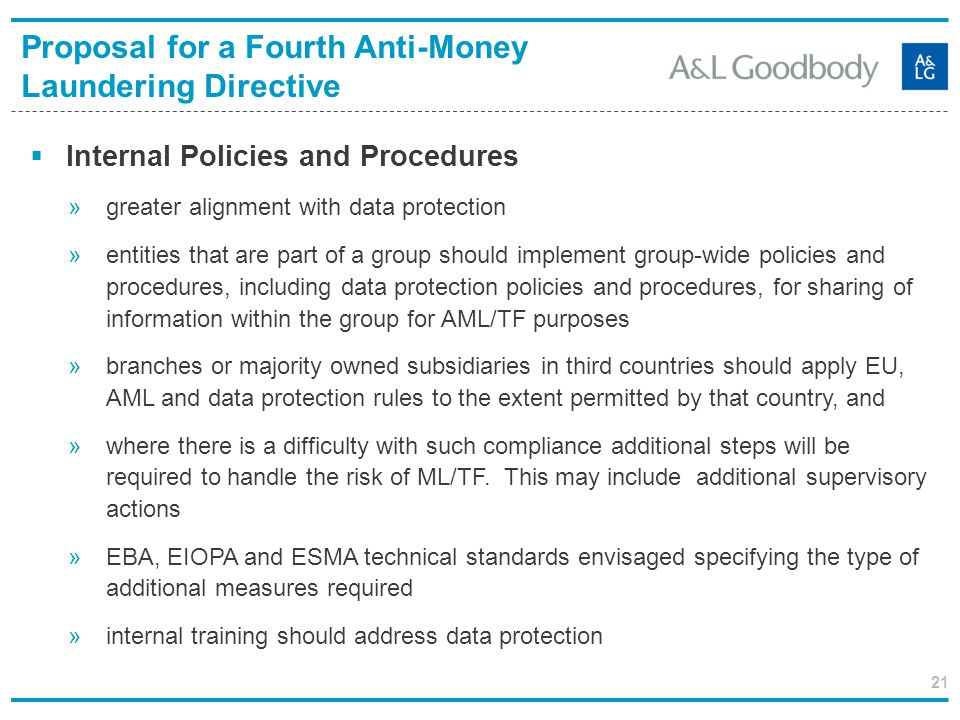 Proposal for a Fourth Anti-Money Laundering Directive