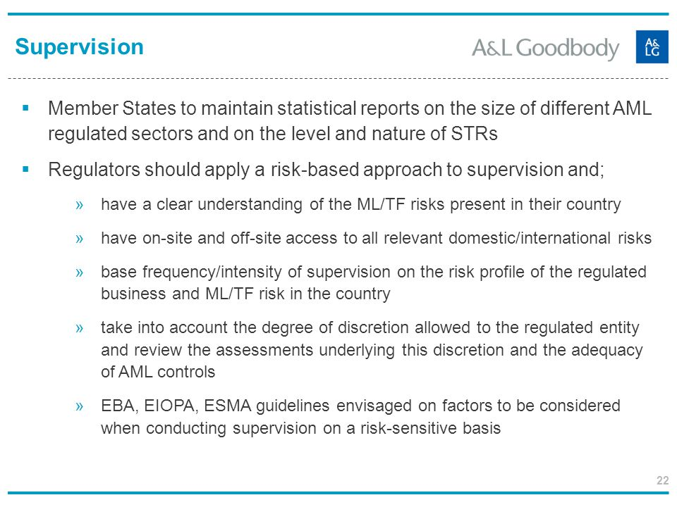 Supervision Member States to maintain statistical reports on the size of different AML regulated sectors and on the level and nature of STRs.
