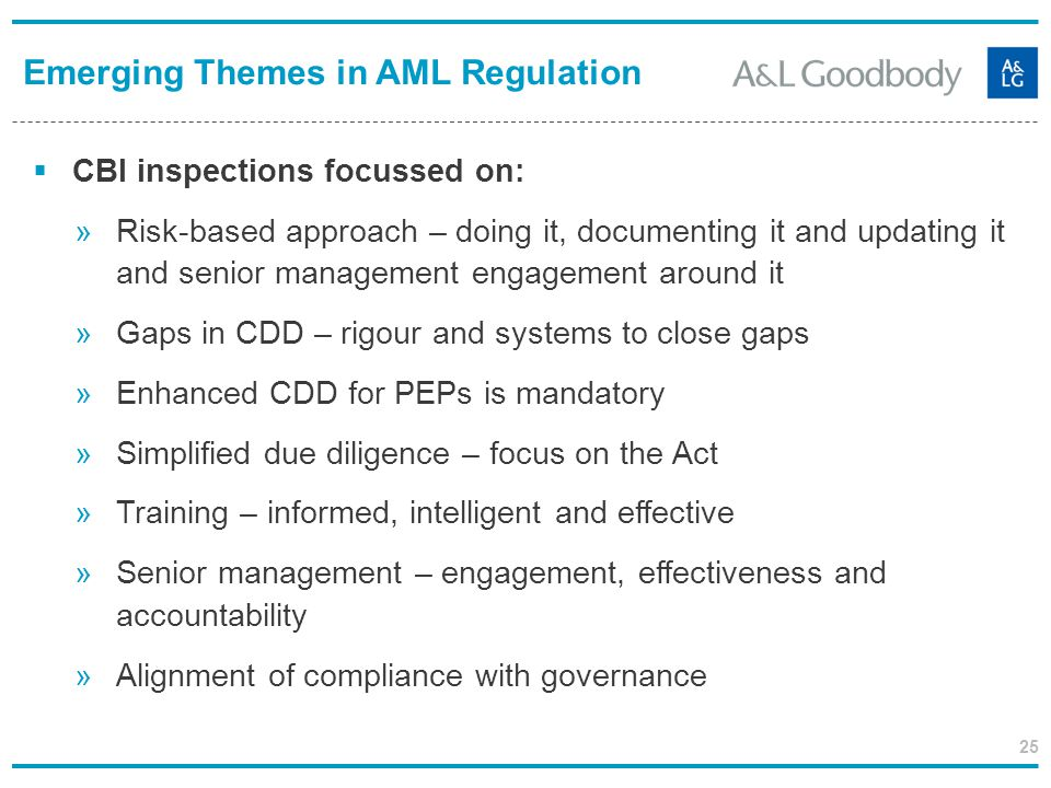 Emerging Themes in AML Regulation