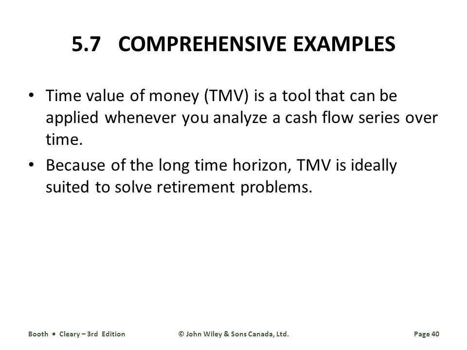 5.7 COMPREHENSIVE EXAMPLES