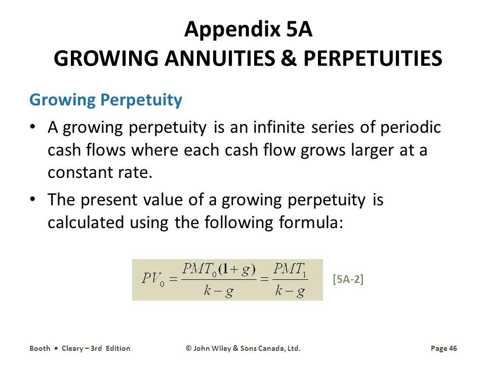 Appendix 5A GROWING ANNUITIES & PERPETUITIES